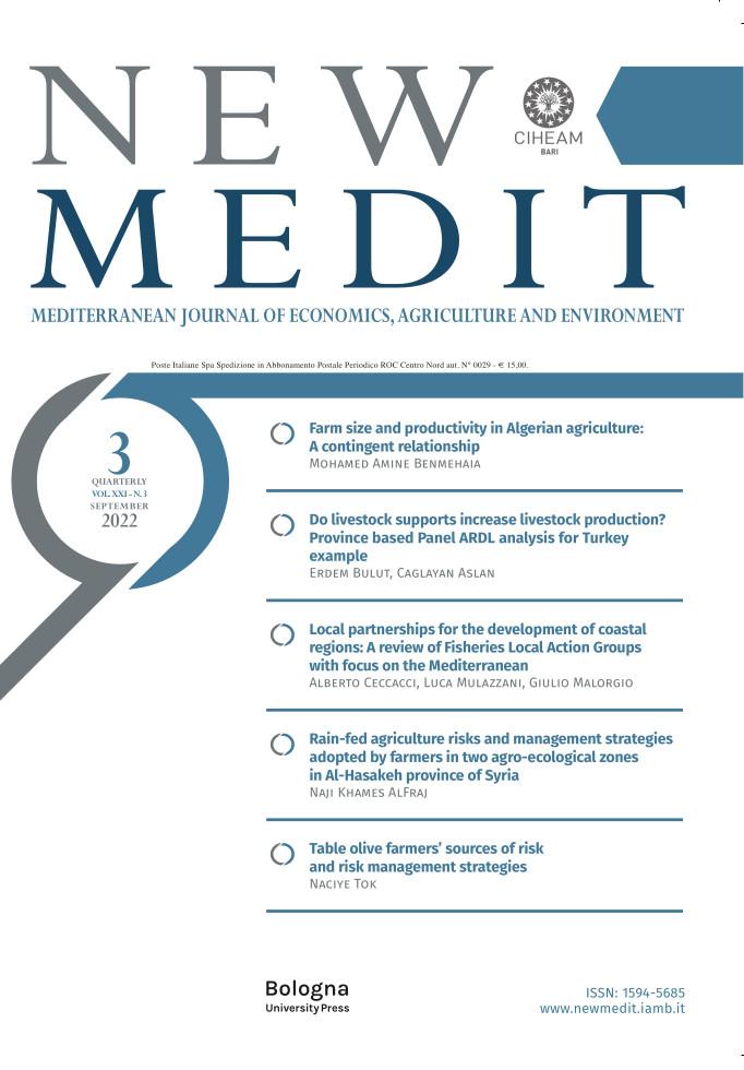 New Medit – Mediterranean Journal of Economics, Agriculture and Environment - Bononia University Press