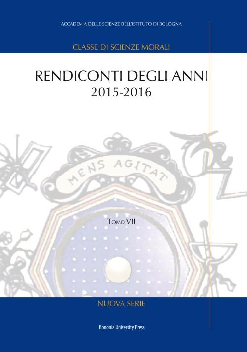 Rendiconti degli anni 2015-2016 - Bononia University Press