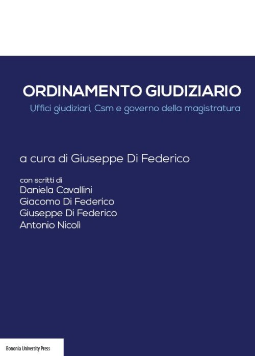 Ordinamento giudiziario - Bononia University Press