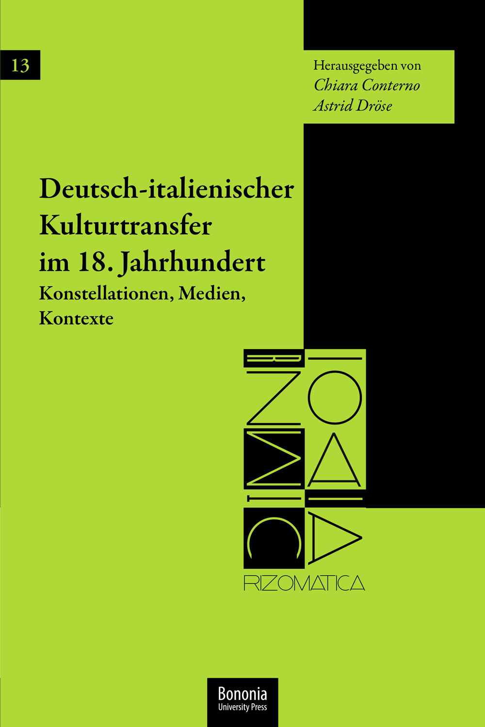 Deutsch-italienischer Kulturtransfer im 18. Jahrhundert - Bononia University Press