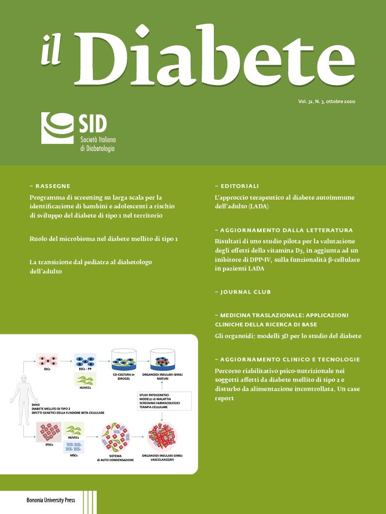 il Diabete vol. 32, n. 3, ottobre 2020 - Bononia University Press