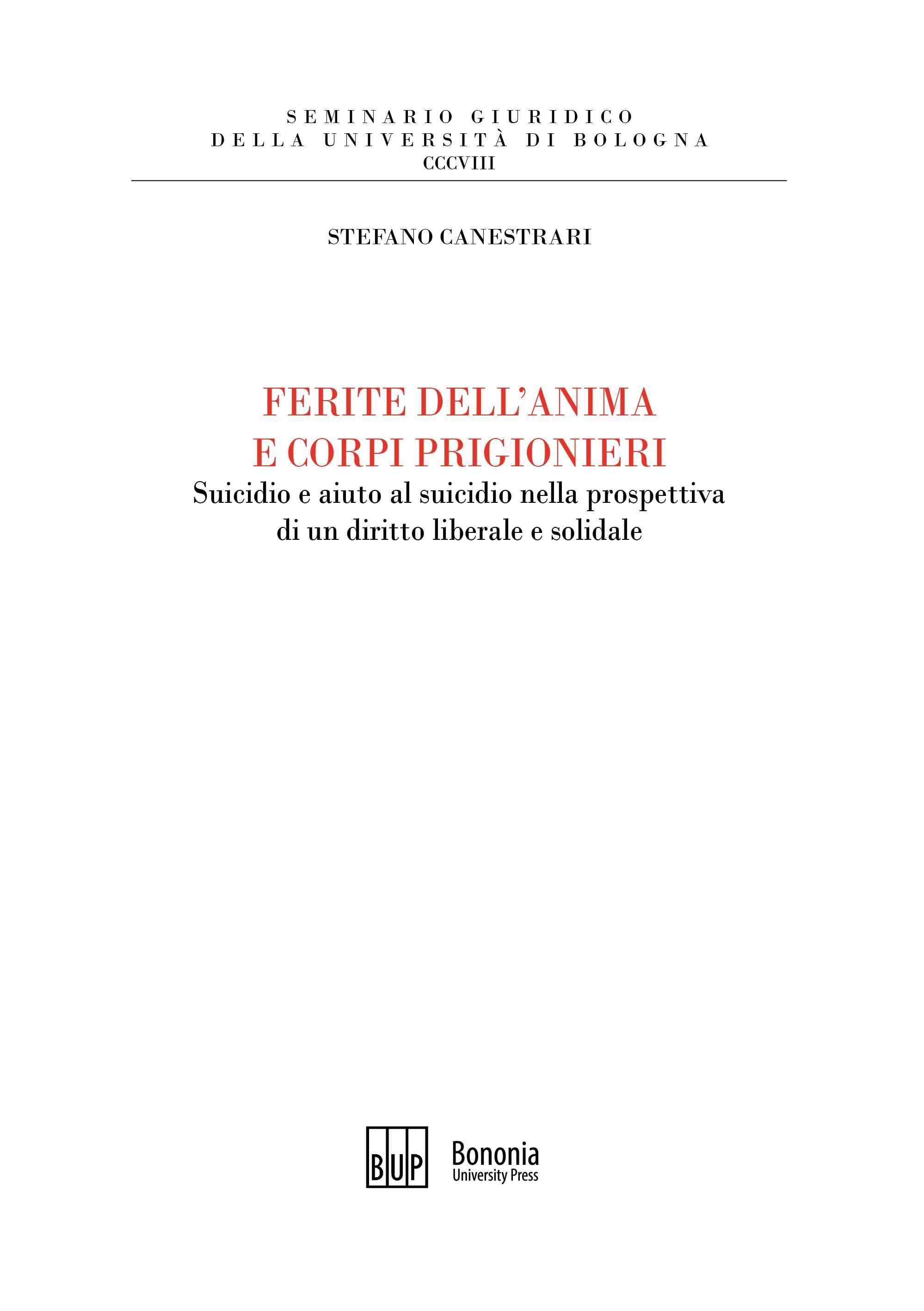 Ferite dell'anima e corpi prigionieri - Bononia University Press
