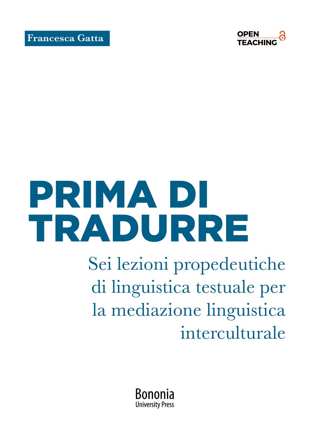 Prima di tradurre - Bononia University Press