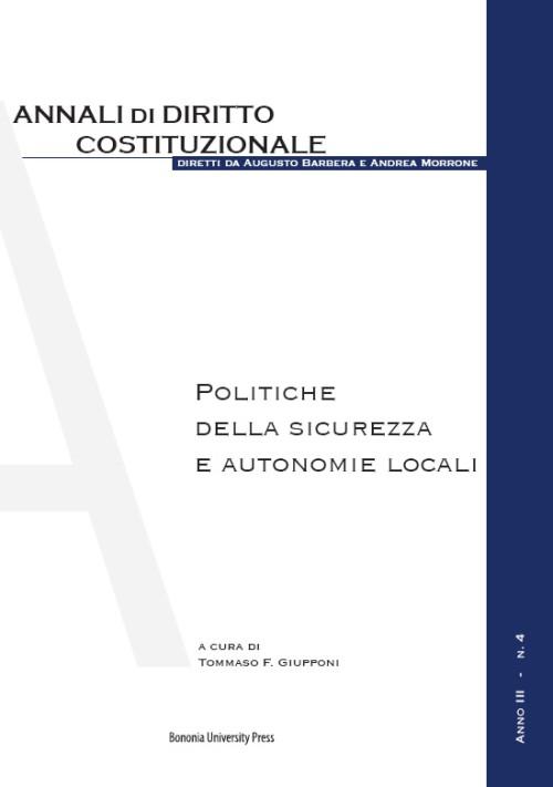 Politiche della sicurezza e autonomie locali - Bononia University Press