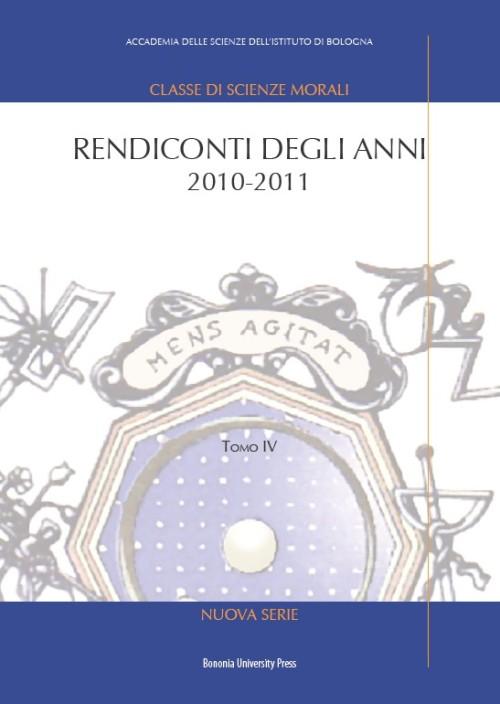 Rendiconti degli anni 2010-2011 - Bononia University Press